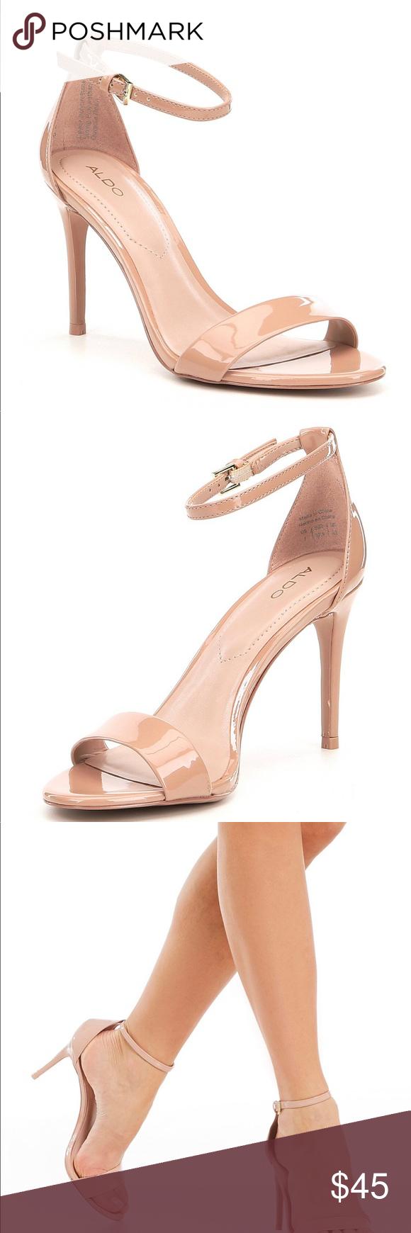 8da73c06a0c ALDO Light Pink Cally Ankle Strap Heels From ALDO