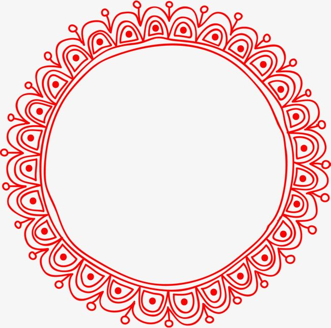 Superb Vector Pattern Round Border PNG Image, Pattern, Round, Frame PNG And Vector