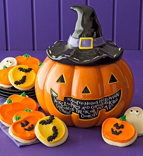 Halloween Cookie Jar - Cutout Cookies - HALLOWEEN COOKIE JAR - halloween catalog