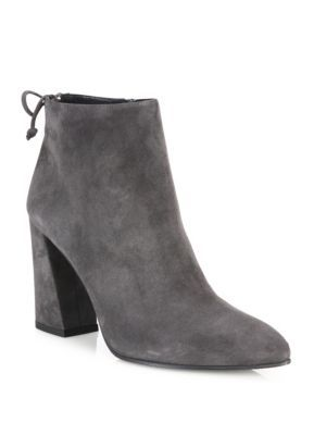 1f6c69ce4cd6 STUART WEITZMAN Grandiose Back-Tie Suede Block-Heel Booties.  stuartweitzman   shoes  boots
