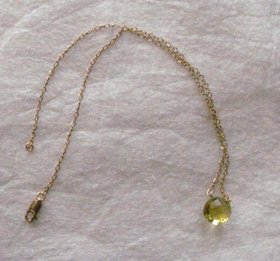 Lemon Quartz Necklace by BaylorAndCompany on Etsy
