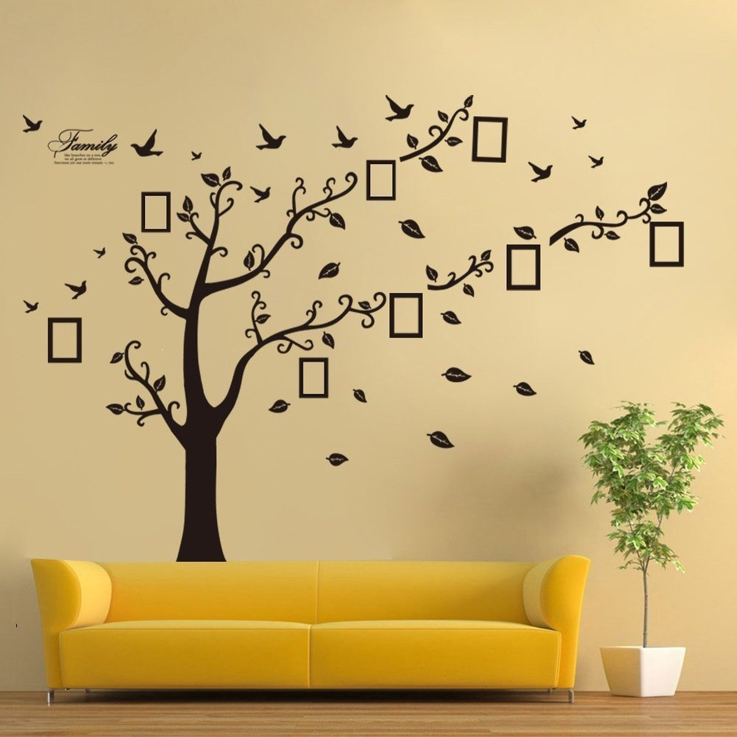 Family Tree Wall Decal Mural Photo Gallery Sticker Art Home Decor ...
