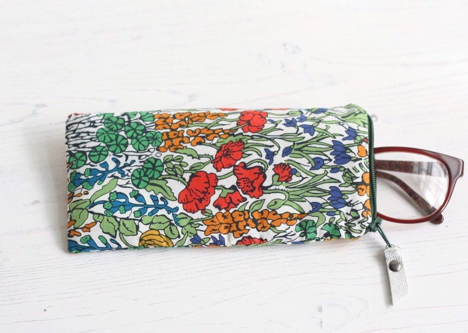 Floral Fabric Glasses Case Liberty Print Glasses Case Reading Glasses Case Womens Glasses Case Ankara Floral Fabric Unique Gifts For Her Glasses Print