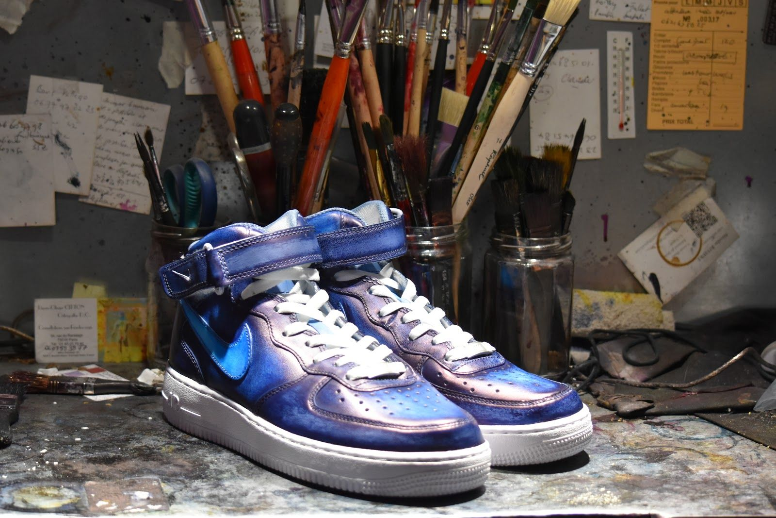 patina by paulus bolten air force one mid | Sneakers, Vans