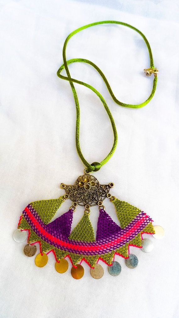 Crochet Necklace Traditional Turkish Lace Oya by ForGoodPeople ...