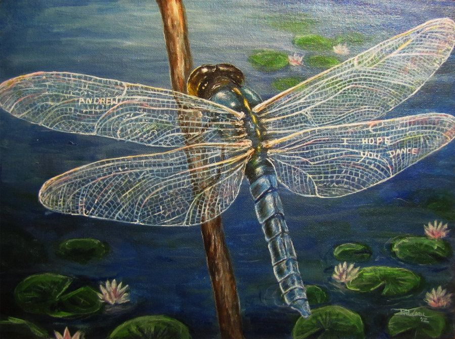 Andrew's Dragonfly - Custom Painting by TheDaytimeHeroes