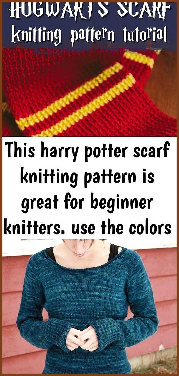 Photo of Dieses Harry Potter Schal Strickmuster ist ideal für Anfänger Stricker verwenden die …