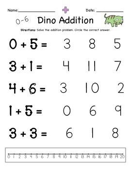Addition Worksheets for Special Education with Touch Points ...