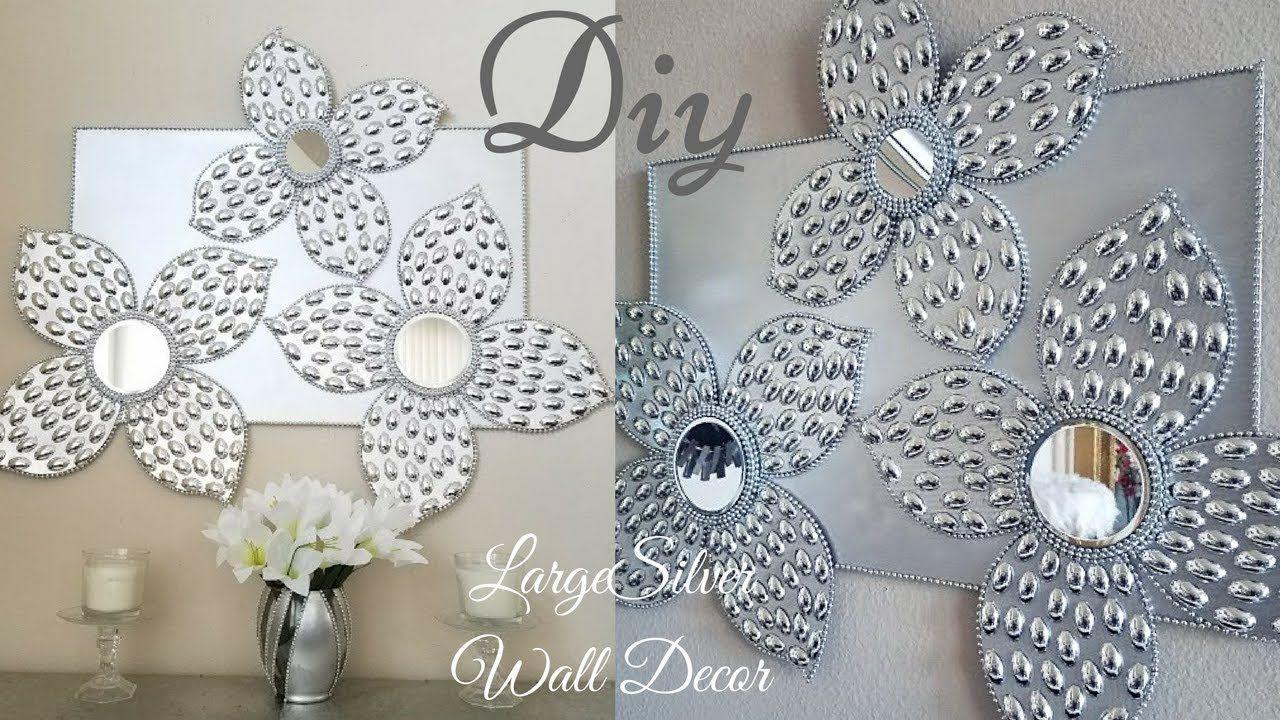 diy large silver wall decor using dollar tree items simple on large wall art id=41796