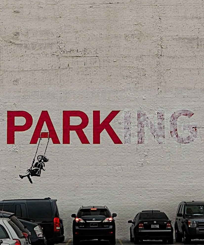 Reivindicando parques y miradas - Banksy