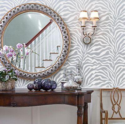 Zebra diy animal print wall geometric old world allover designer pattern stencil home decor