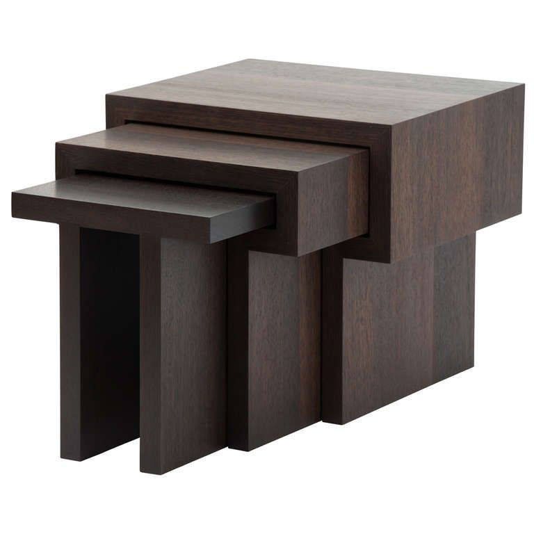 Contemporary Nesting Tables ~ Michael boyd t nesting tables from a unique collection
