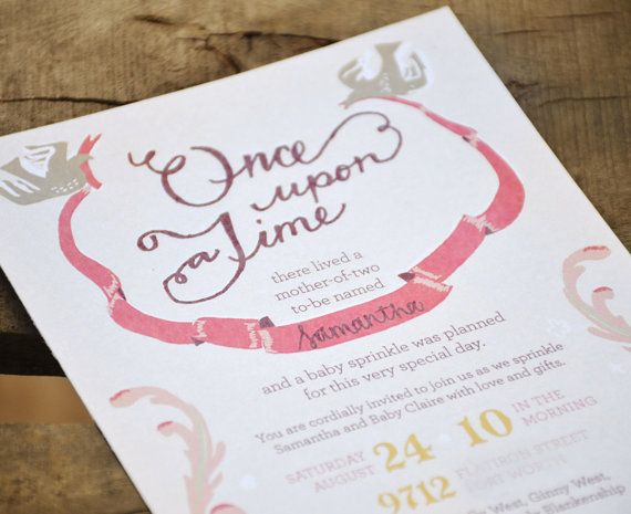 Once Upon A Time, Fairytale Princess Storybook Baby Shower or ...