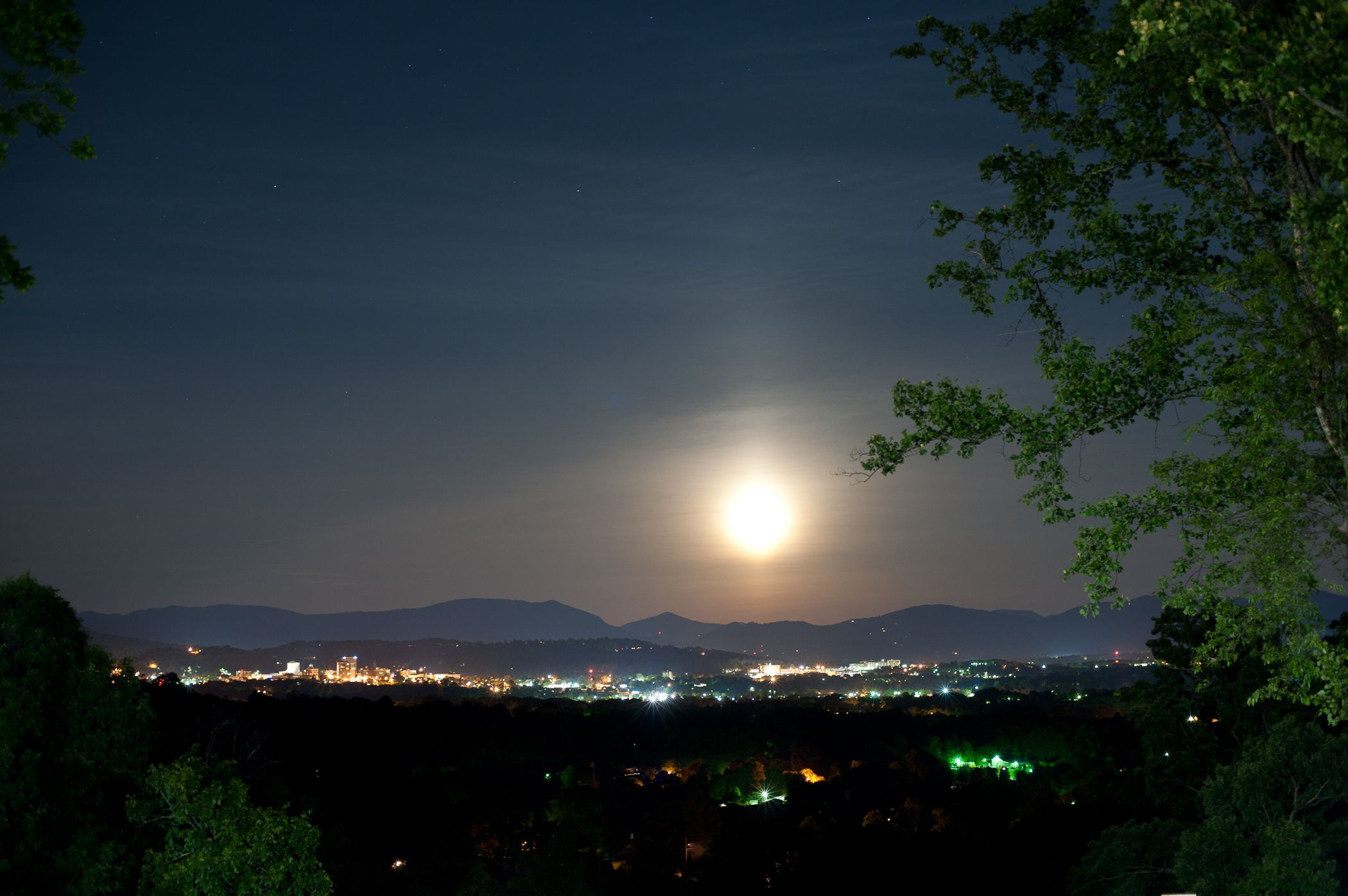 That moon is INSANE!! Taken from the Overlook Deck outside of the Crest Center