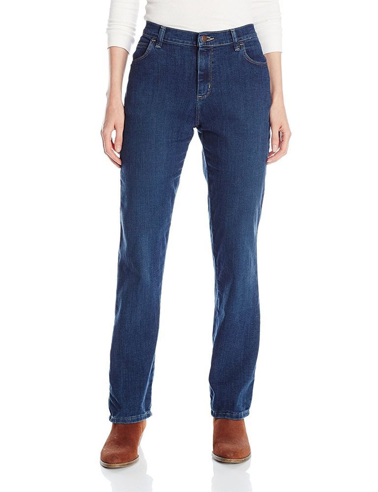 Lee Women/'s Relaxed fit Straight leg Jeans 14 Petite