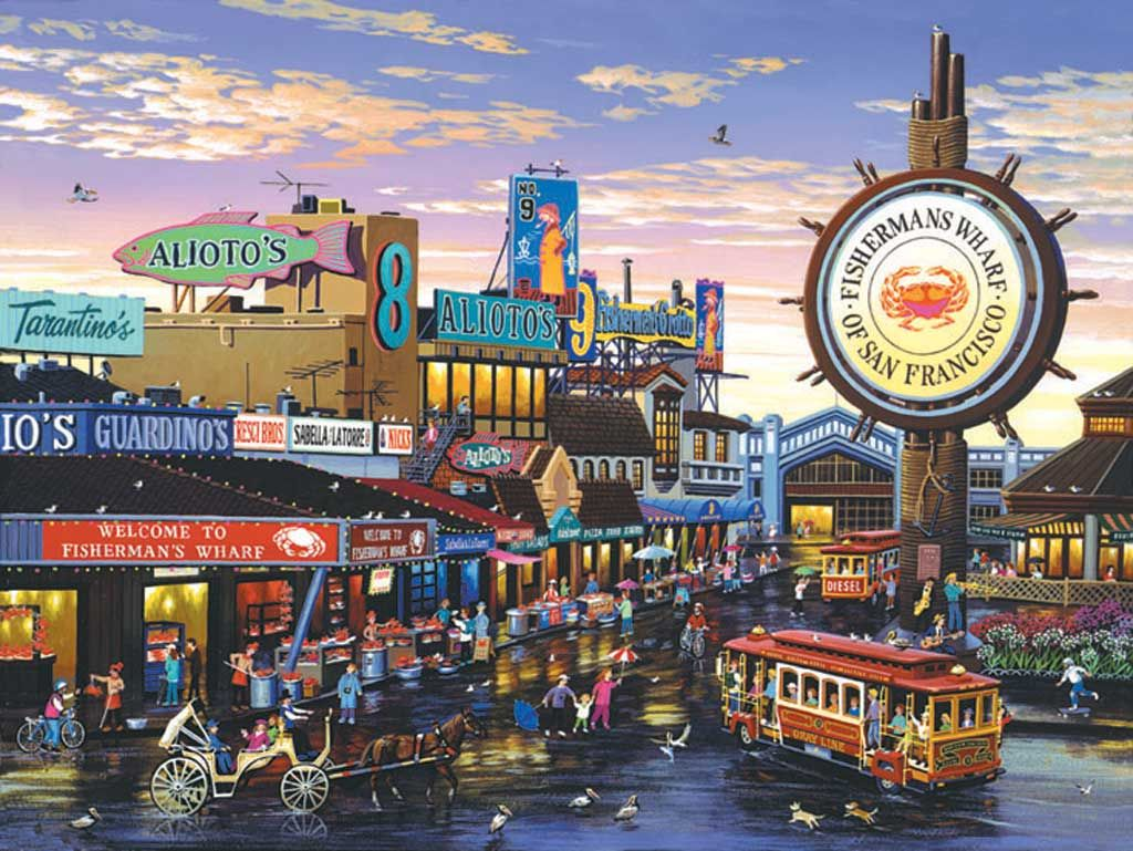 Fisherman S Wharf 1000pc Jigsaw Puzzle By Sunsout Discon