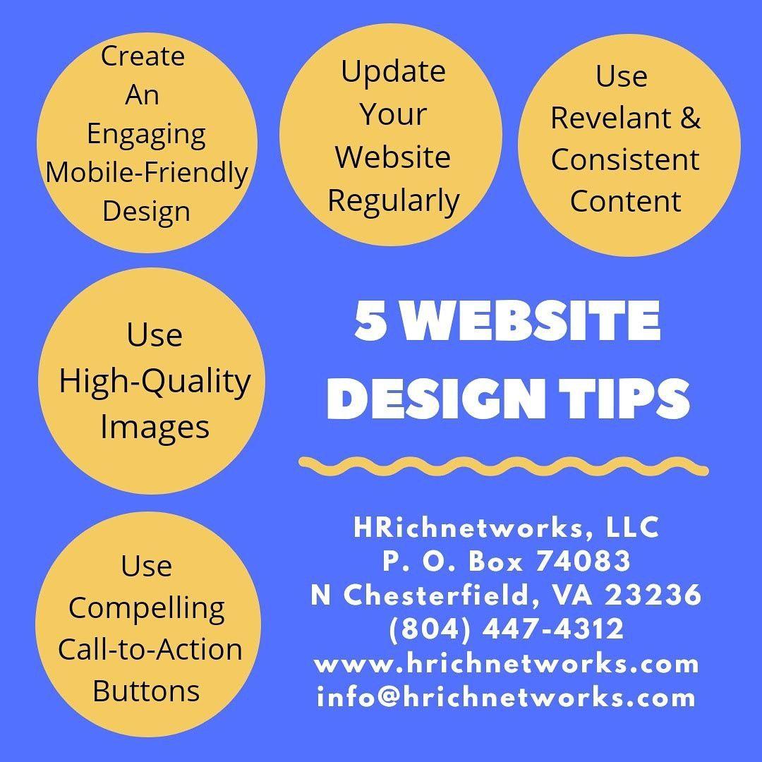 5 Website Design Tips Web Design Website Design Website Design Company