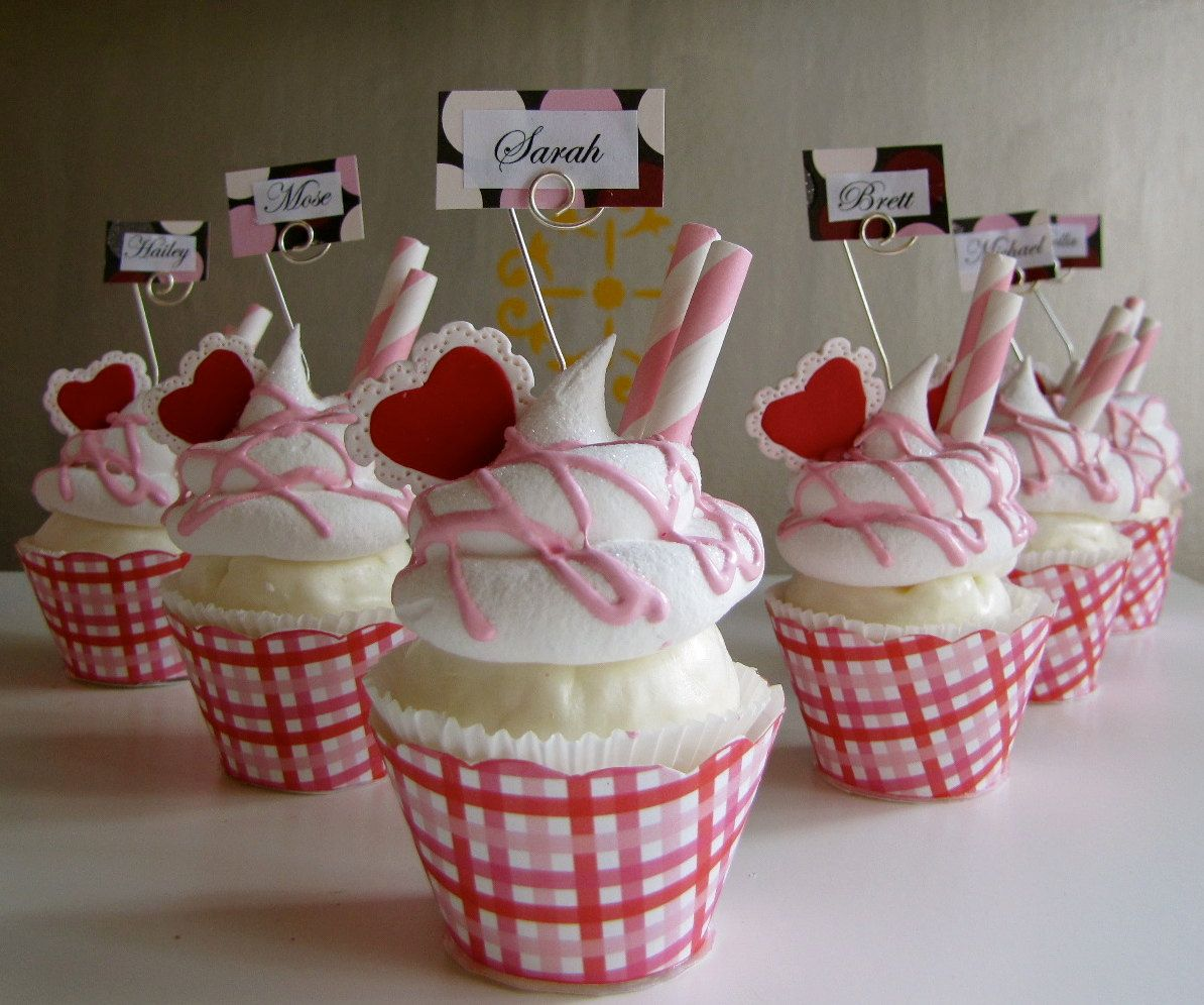 Fake Cupcake Name Dessert Name Or Place Card Holder Picture Or