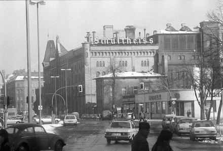 BERLIN 1980, Schultheiss Brauerei in Moabit. Das Gebäude