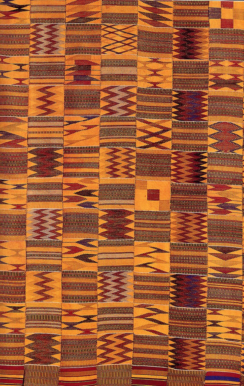 Has some cocoa bean colors - Africa | Kente cloth detail from the ...