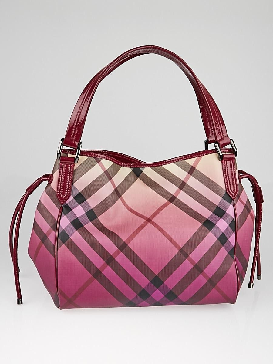 6b514090951 For this Burberry Bilmore tote, the iconic Supernova Check coated canvas is  covered with a