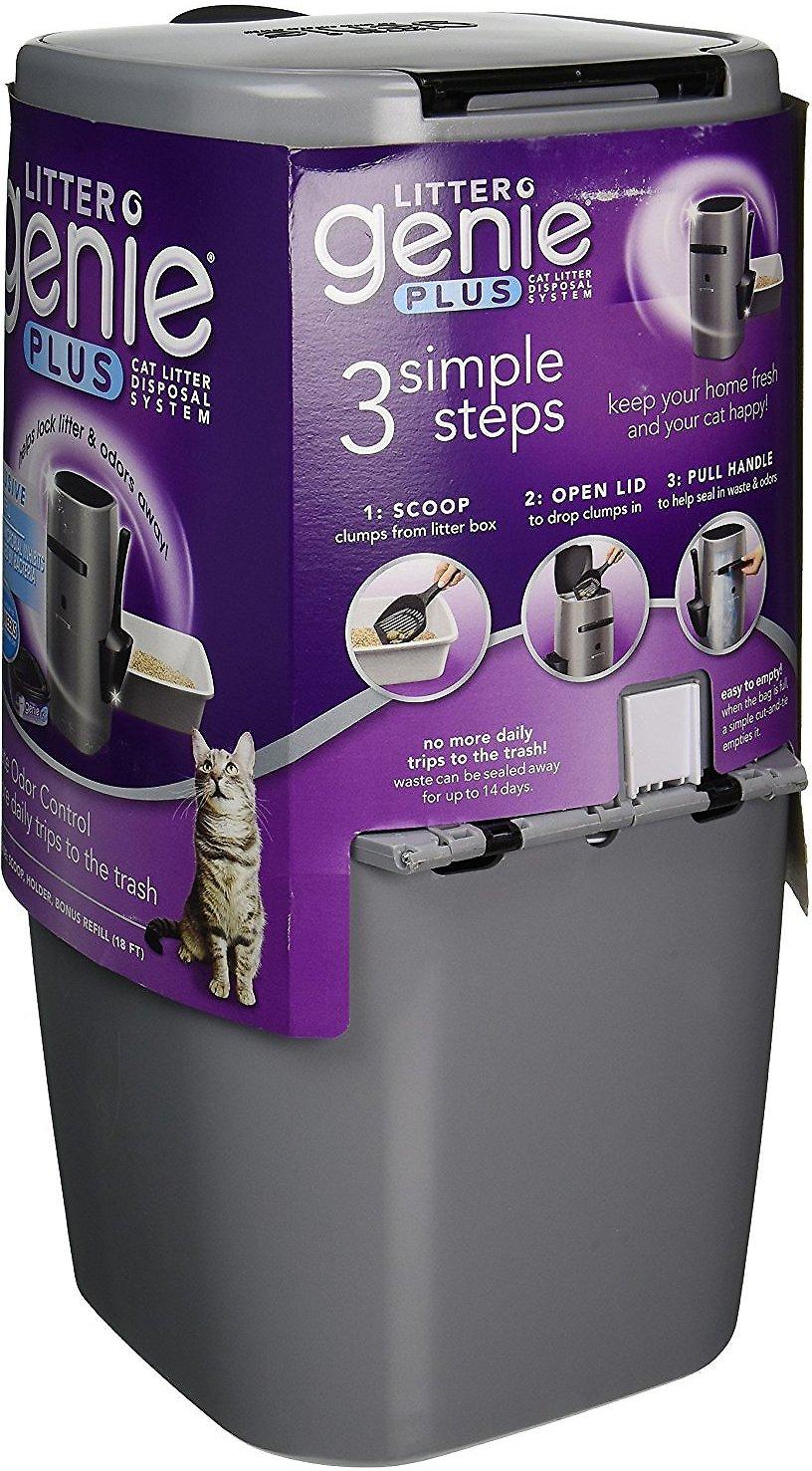 Litter Genie Plus Cat Litter Disposal System Black Chewy Com In 2020 Cat Litter Odor Litter Odor Cat Litter