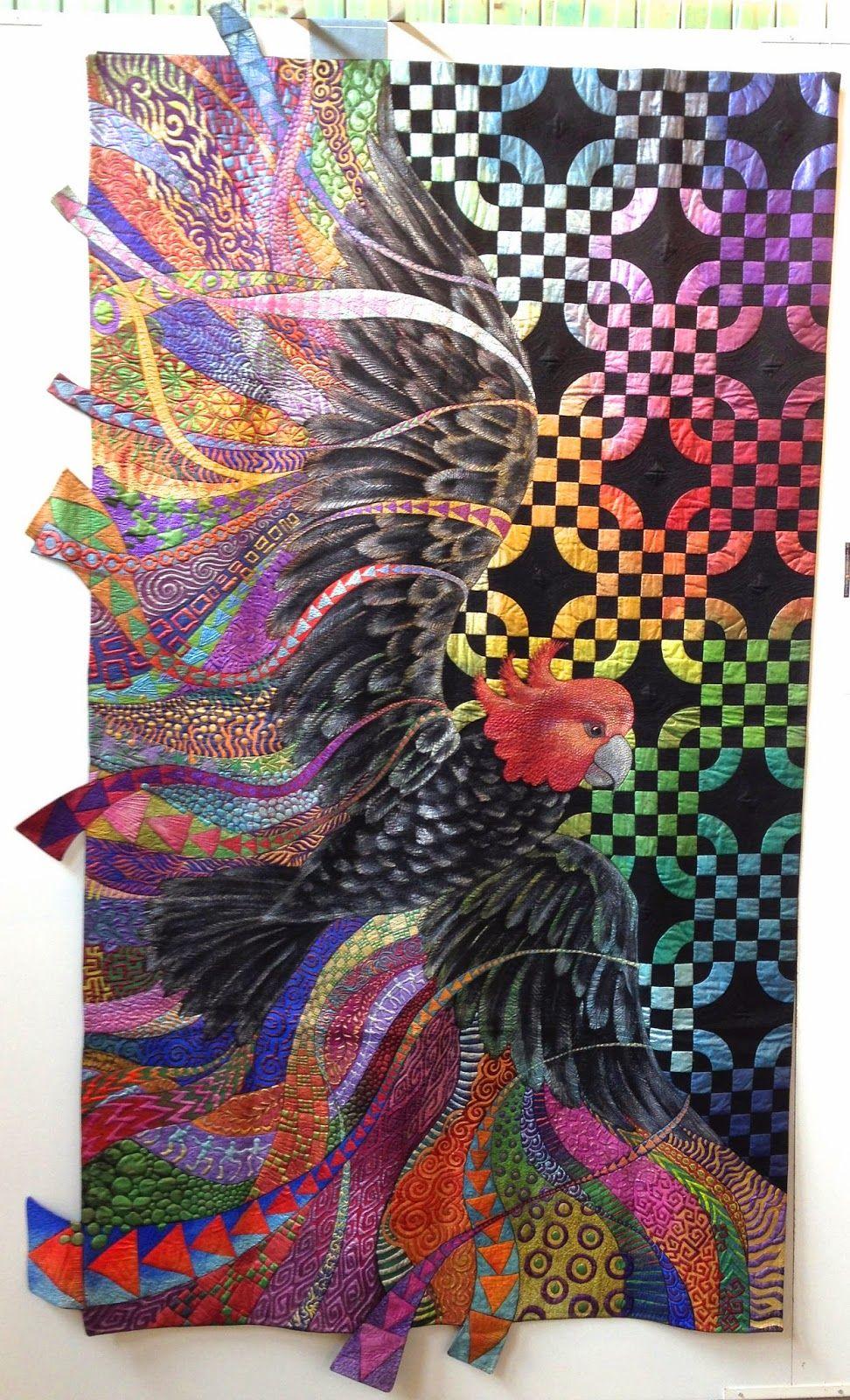 Freedom by Helen Godden (Australia).  byannelize : European Patchwork Meeting Alsace 2014