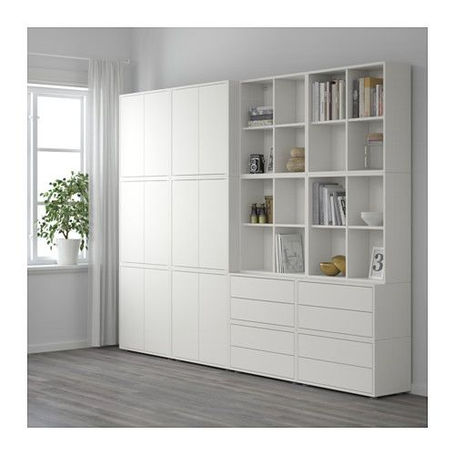 eket combinaison rangement avec pieds blanc ikea home ideas pinterest combinaisons. Black Bedroom Furniture Sets. Home Design Ideas