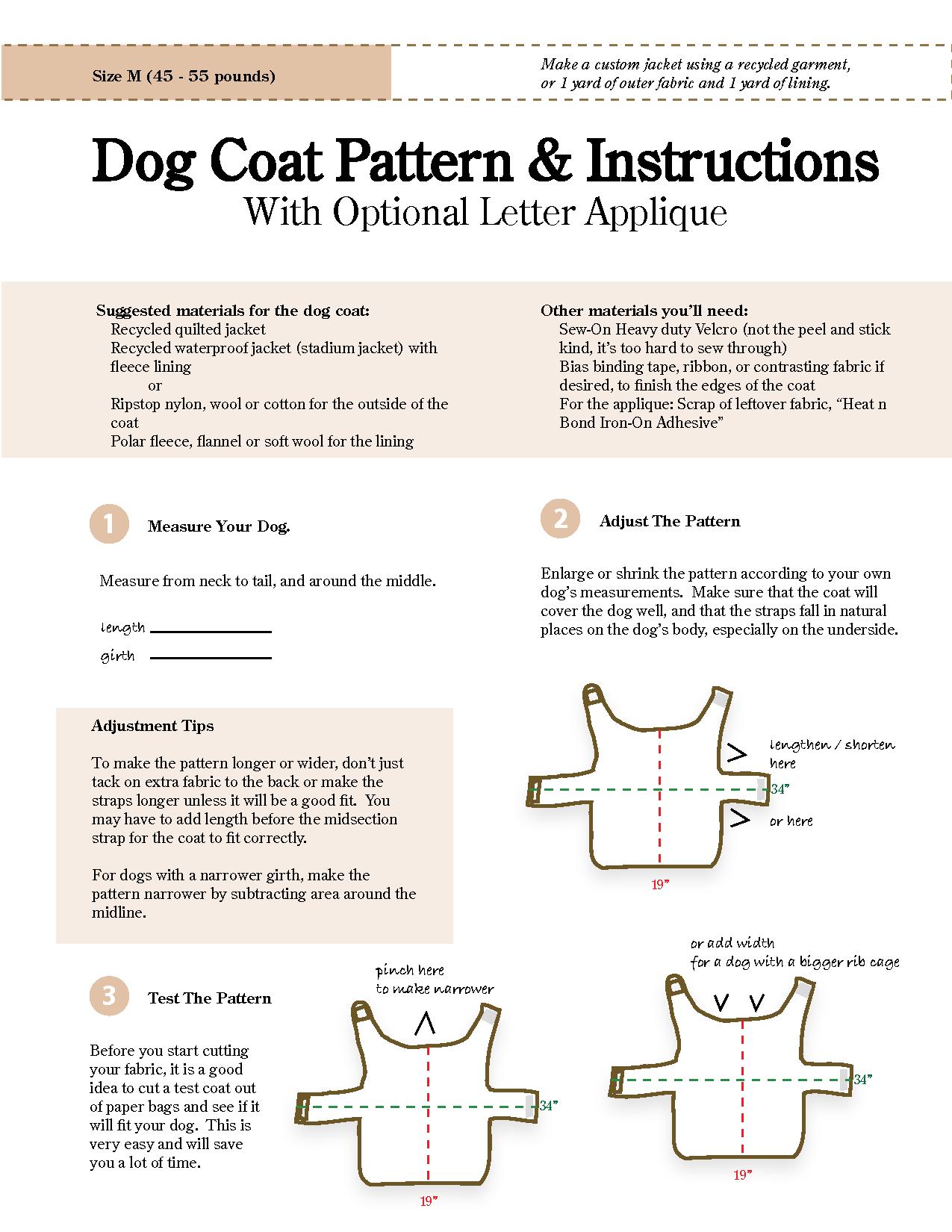 Dog Clothes Patterns : clothes, patterns, Pattern,, Jacket, Patterns,, Sweater