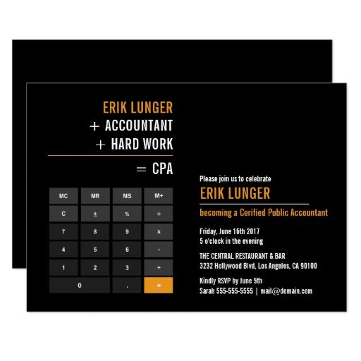 Finance Calculator Retirement Party Card CPA Pinterest