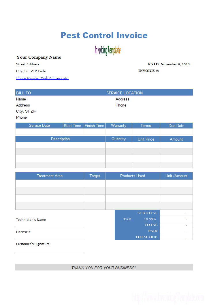 Boutique Bill Sample Invoice Template Templates Web Address