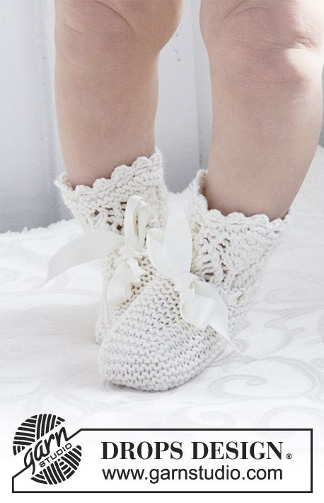 My Fairy Booties - Knitted socks with lace pattern for Christening ...