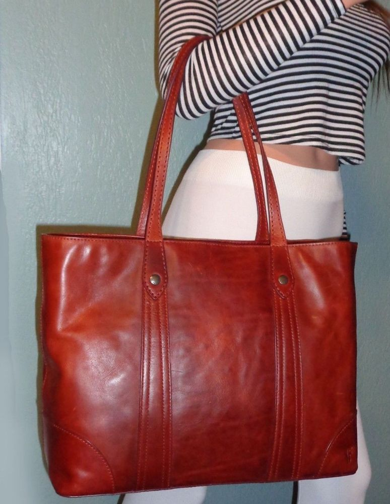 1f6f6b0868e3 NEW Frye DB181 Melissa Shopper, Antique Pull Up Leather (Red Clay) NWT $358