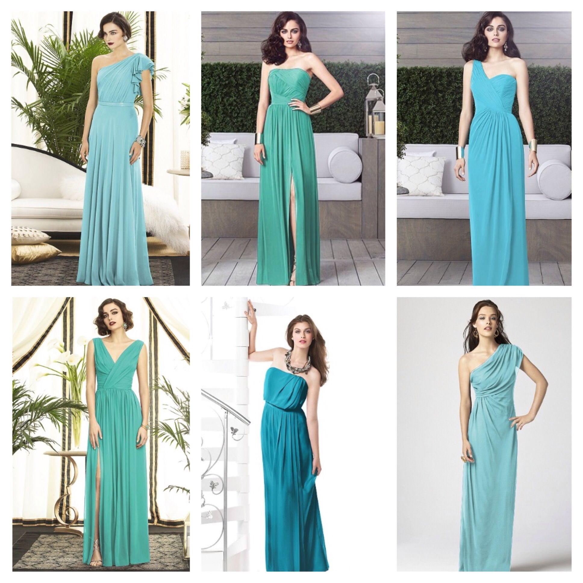 Mismatched long blue bridesmaid dresses marie damon mismatched long blue bridesmaid dresses ombrellifo Images