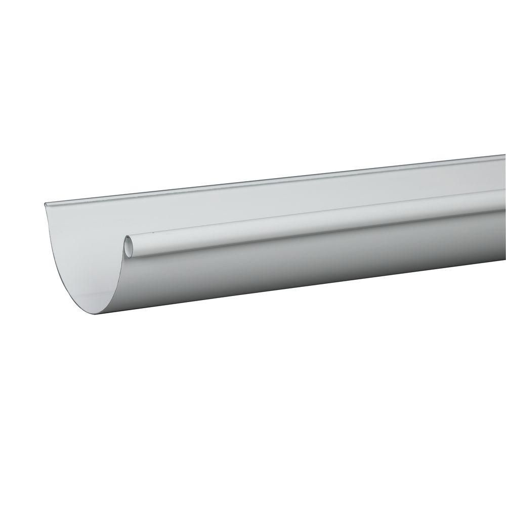 Amerimax Home Products 6 In X 10 Ft White Aluminum High Gloss 80 Degree Gutter L10hg6 The Home Depot In 2020 Gutters Aluminum Gazebo Seamless Gutters