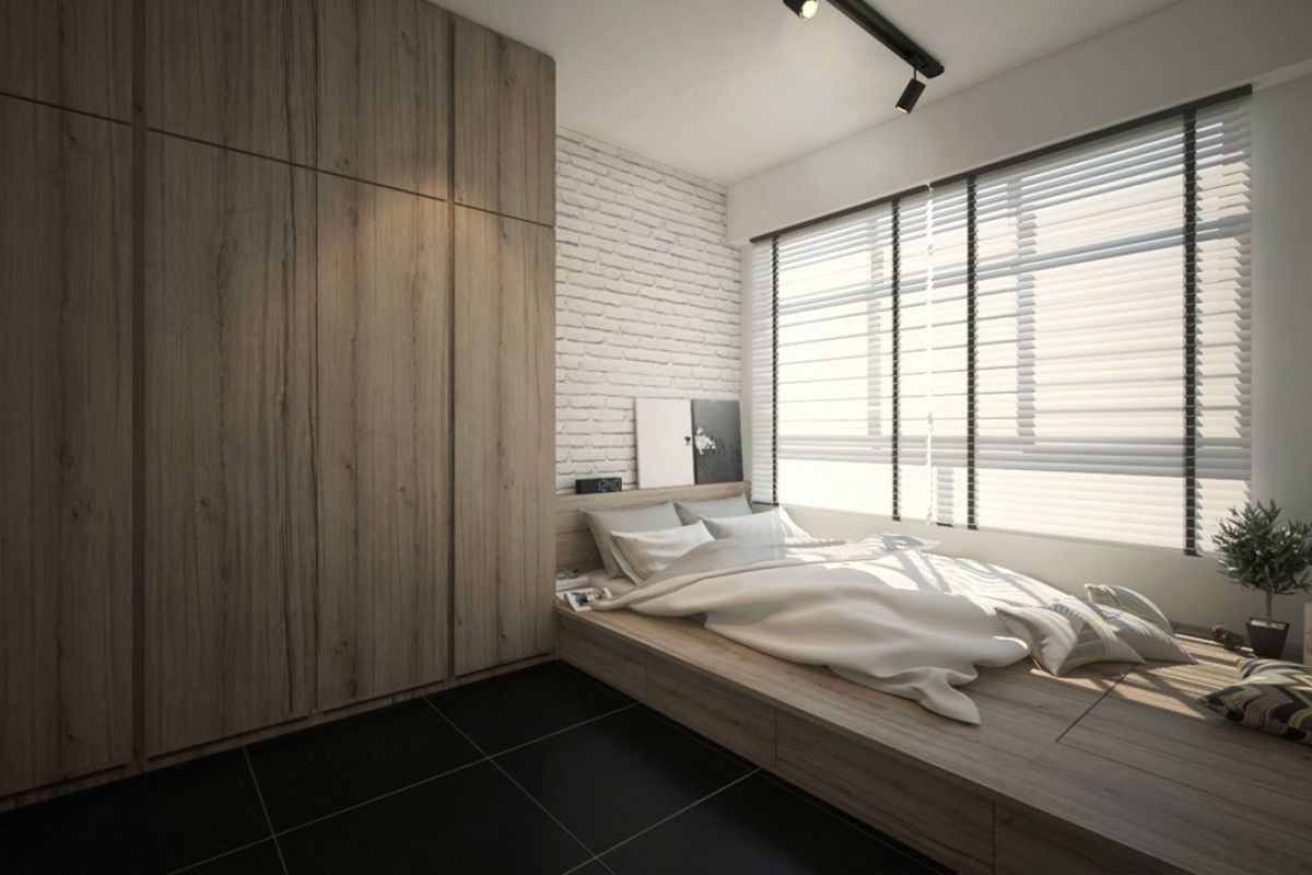 Platform bed bedroom singapore google search rooms for Roperos empotrados para dormitorios