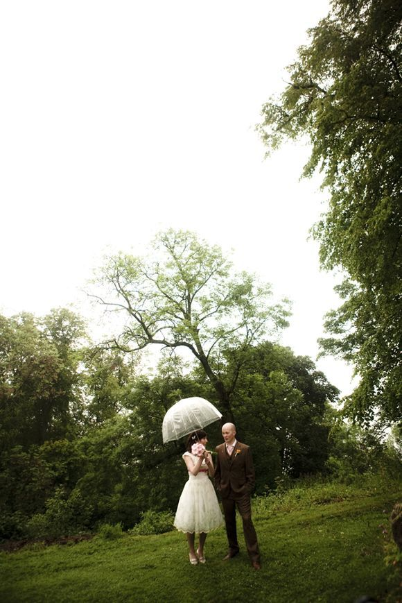 Handmade & Quirky Woodland Inspired Wedding for a 'Conversation Pieces' Blogger… #clearumbrella