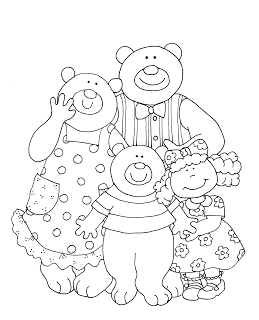 Goldilocks And The Three Bears Bear Coloring Pages Goldilocks And The Three Bears Coloring Pages
