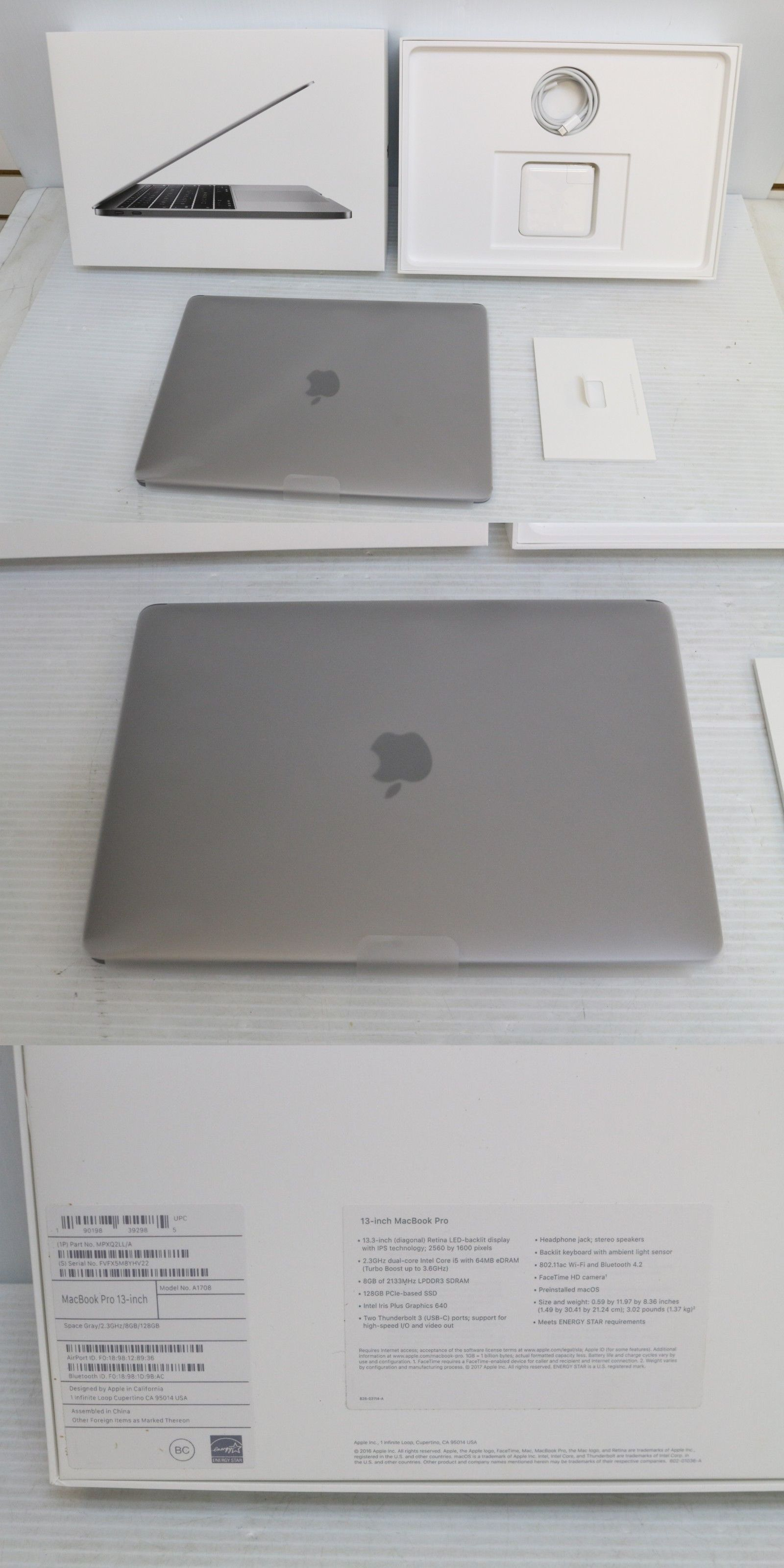 new photos c0828 6479b Apple Laptops 111422  Apple 13.3 Macbook Pro (Mid 2017, Space Gray) Mpxq2ll  A -  BUY IT NOW ONLY   1150 on  eBay  apple  laptops  macbook  space