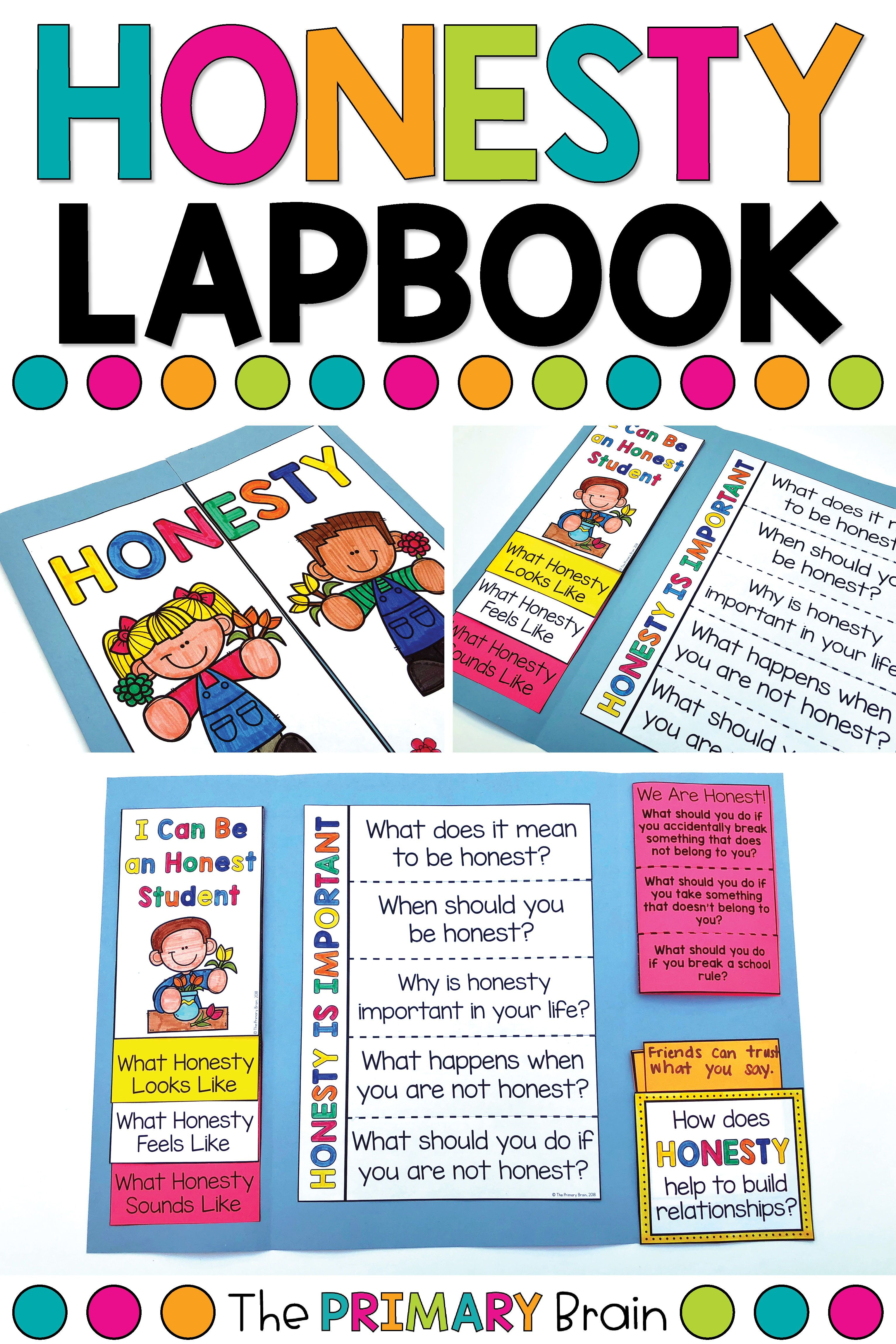 Honesty Character Education Lapbook