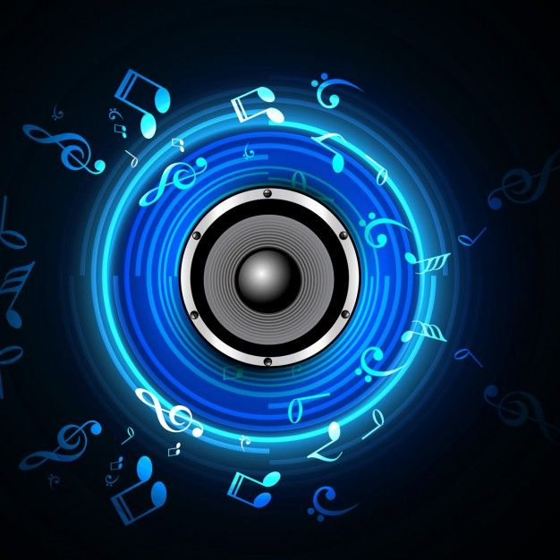 Download Musical Background For Free Speaker Wallpaper Banner Background Images Music Visualization