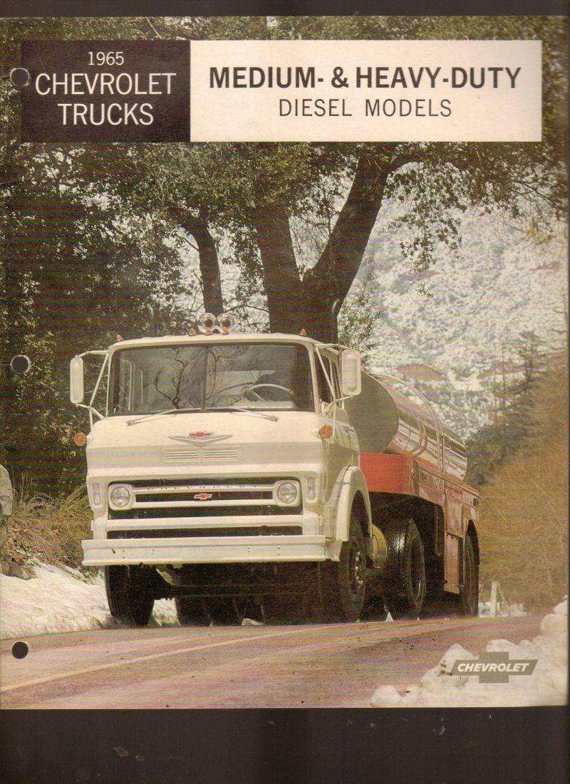 1965 Chevrolet Trucks Medium and Heavy Duty Sales Brochure Chevy ...