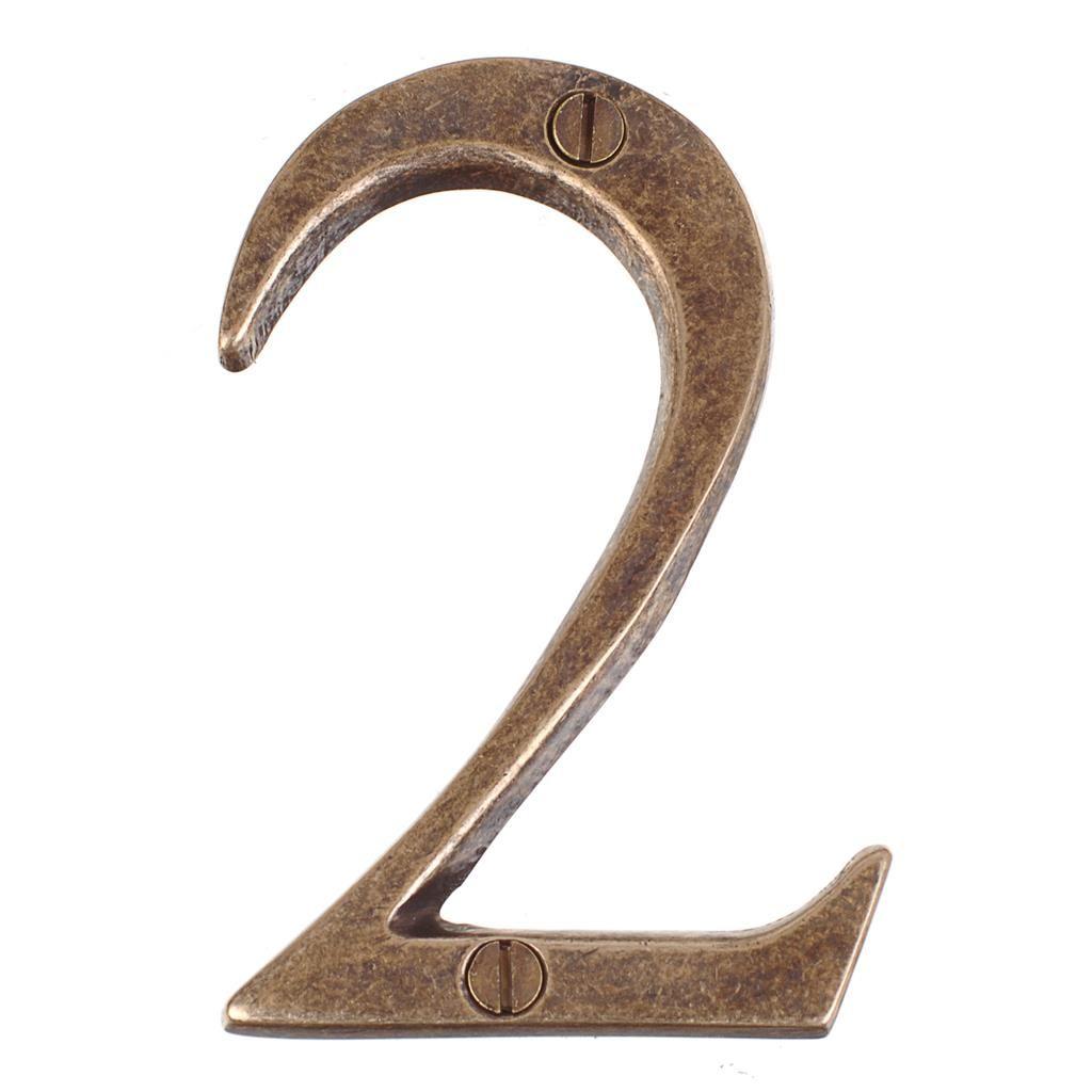 Number 2 in Antiqued Brass · Door NumbersHouse ... - Number 2 In Antiqued Brass House Pinterest Door Numbers, Door
