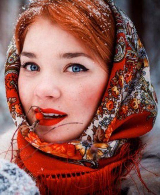 фото в русском платке зимой мужчина