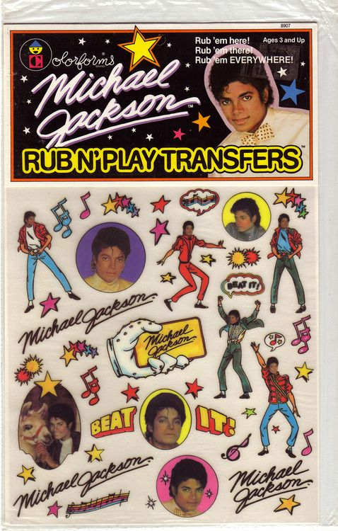 Michael Jackson Rub N' Play Transfers by Colorforms
