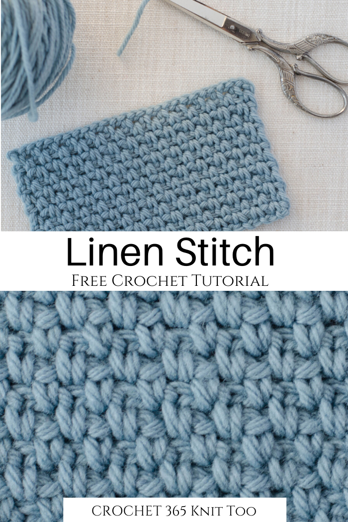 How to Crochet the Linen Stitch - Crochet 365 Knit Too