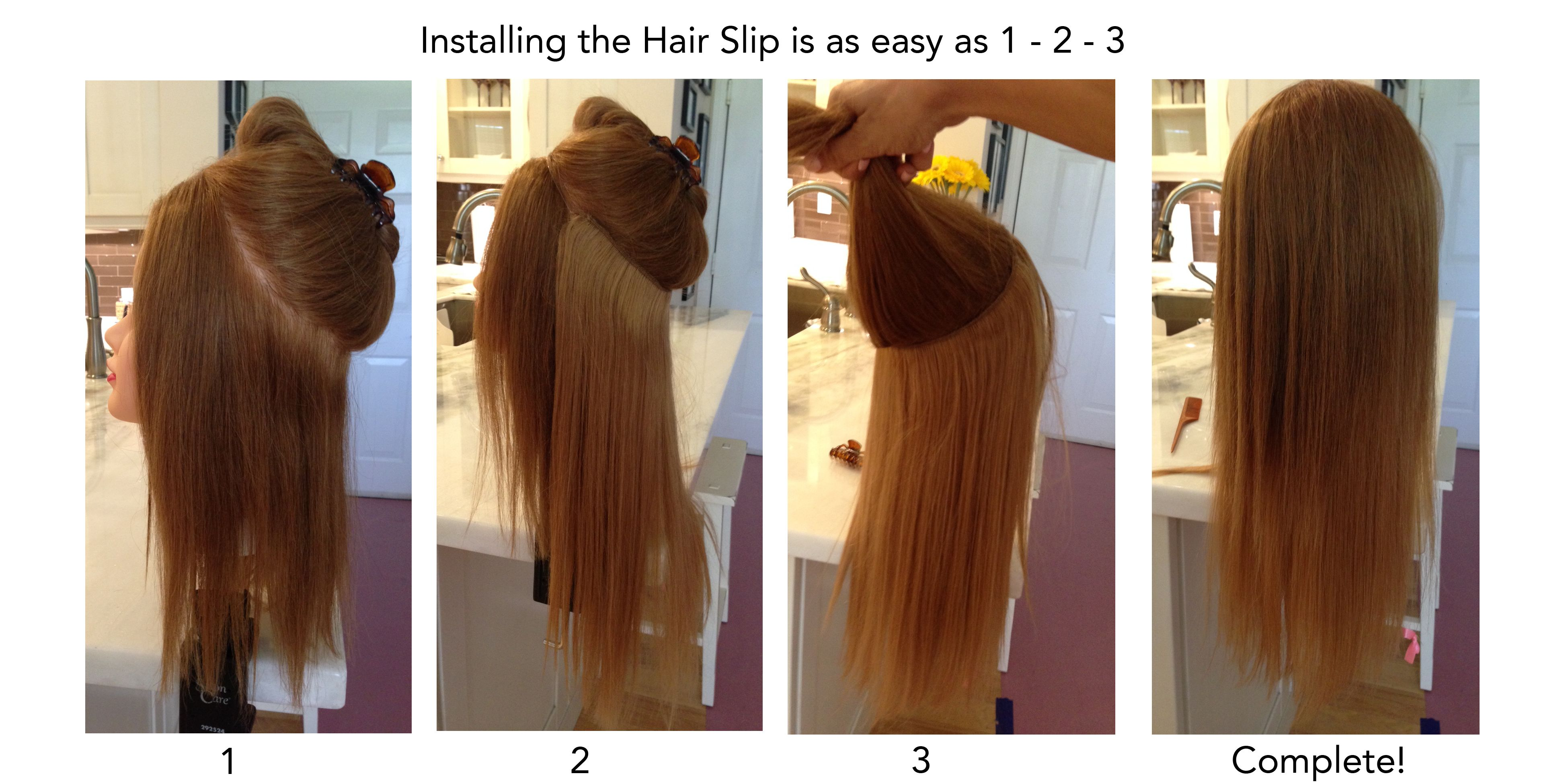Hair Slip Installation The Hair Slip Halo Method Pinterest
