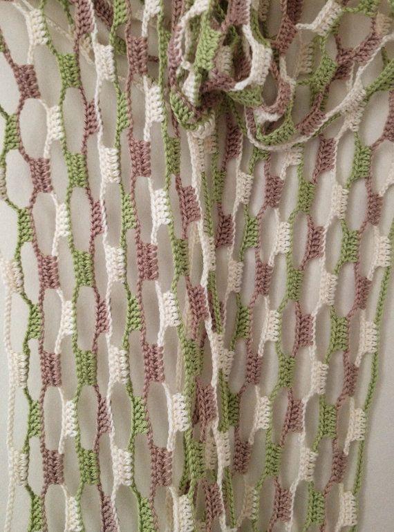 Nature flowery crochet echarpe | Algodón hilado, Crochet con hilo y ...
