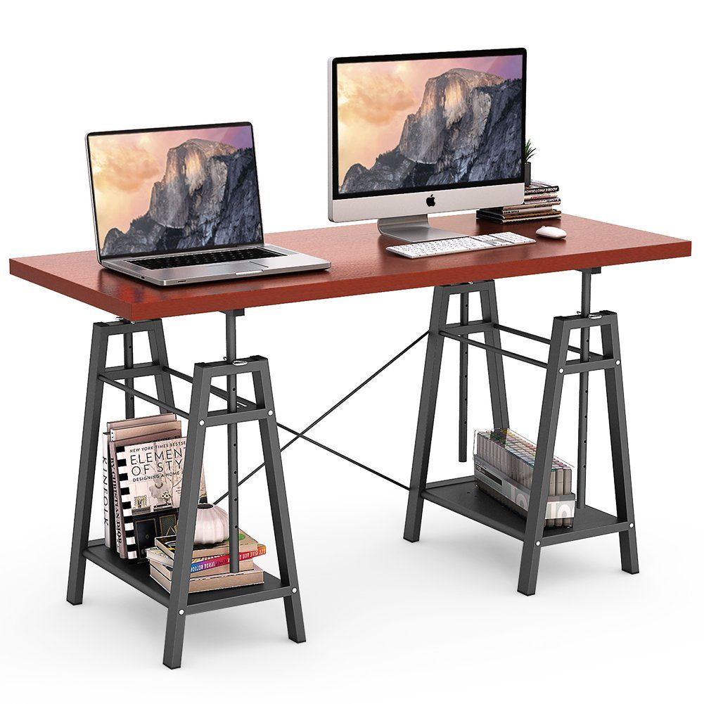 standing office table. Tribesigns Computer Desk Height Adjustable Standing Desk, 55\u201d Large Office Writing With Table