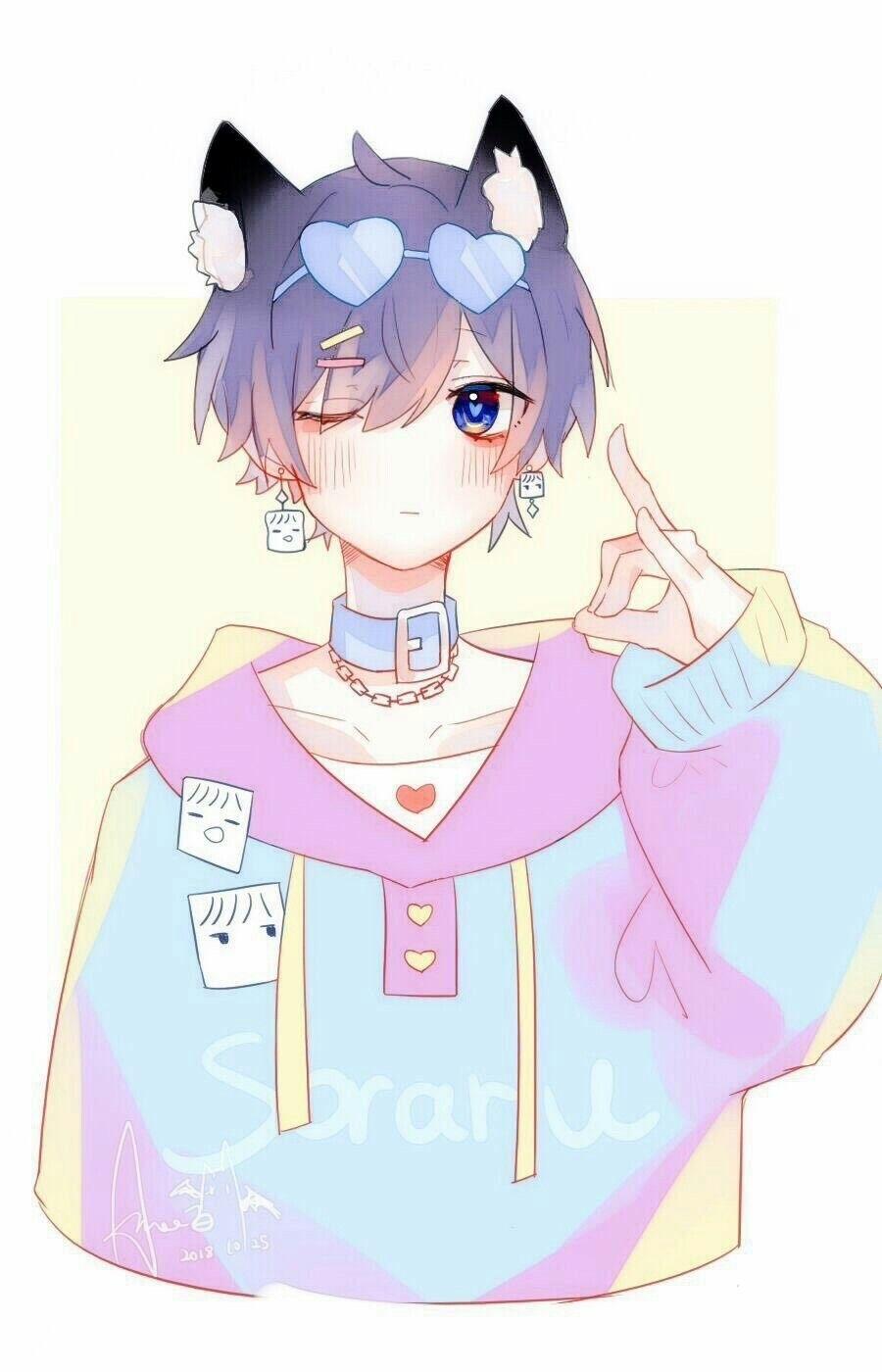 Creditos Al Autor Cute Anime Boy Anime Boy Anime Chibi